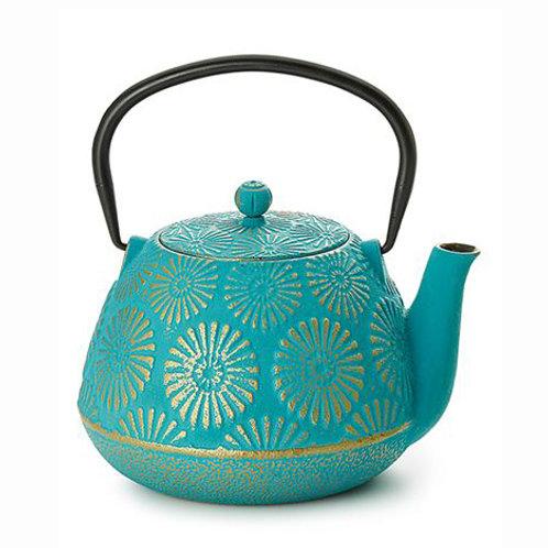 Théière fonte - Jinan 1L- bleue turquoise