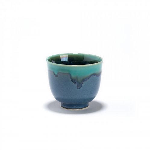 Nami - Bol à thé bleu et vert en porcelaine