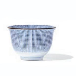 Bol à thé en porcelaine Pointe Bleue