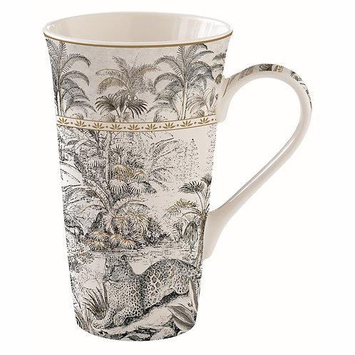Retro Jungle mug géant en porcelaine