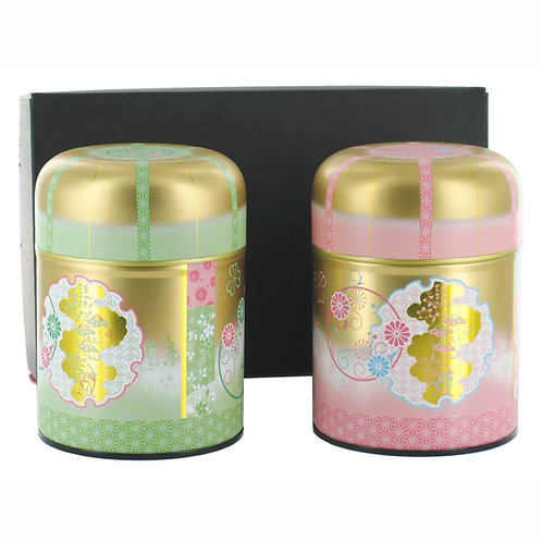 Coffret 2 boîtes à thé Sakura