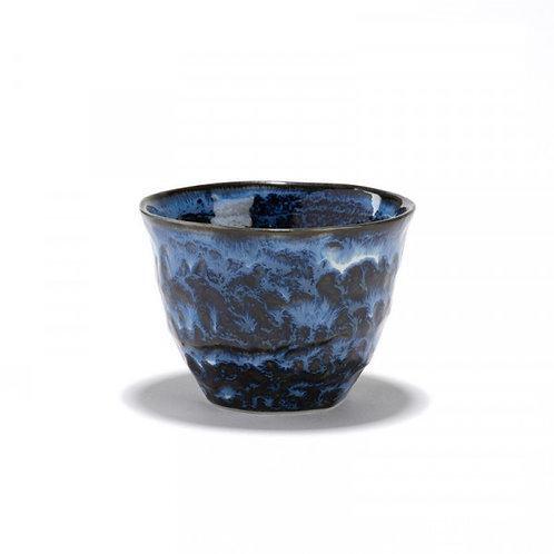 Ciel - Bol à thé bleu - porcelaine craquelée