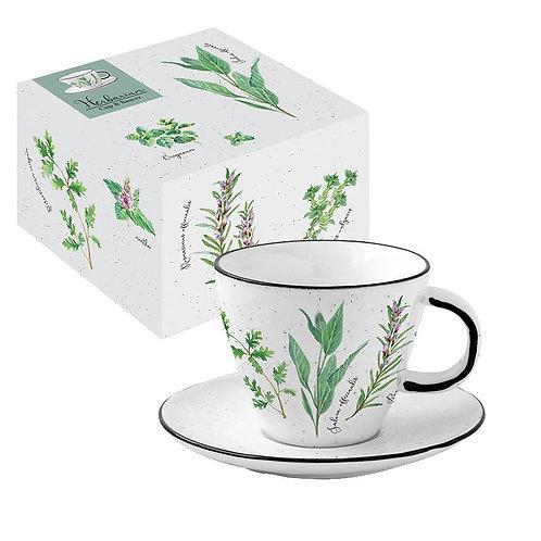 Herbarium tasse à thé en porcelaine