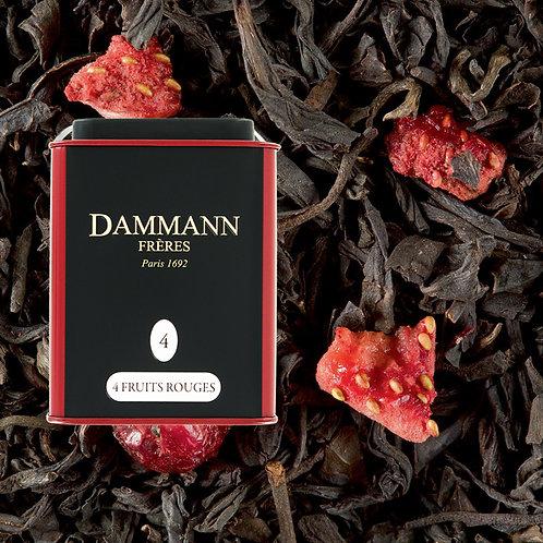 Thé noir 4 Fruits Rouges boîte 100gr