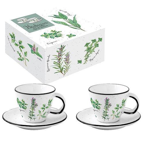 Herbarium coffret 2 tasses à café