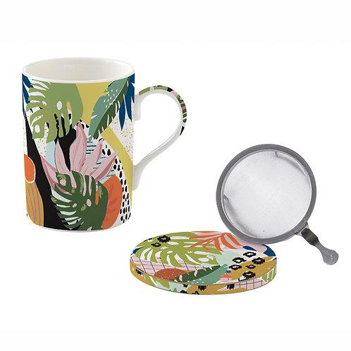 Tropical Vibes tisanière en porcelaine
