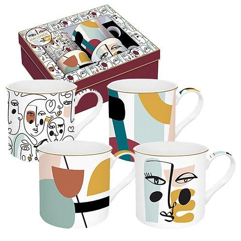 Modernism coffret 4 mugs