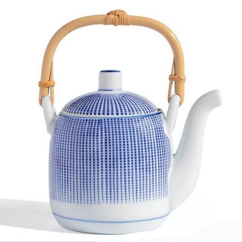 Théière porcelaine -Pointe bleue 0,50L