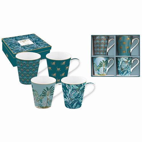 Jungle coffret 4 mugs