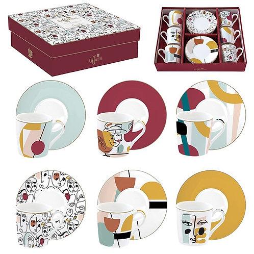 Modernism coffret 6 tasses à café