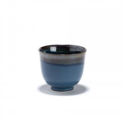 Iwa bol à thé bleu et noir en porcelaine