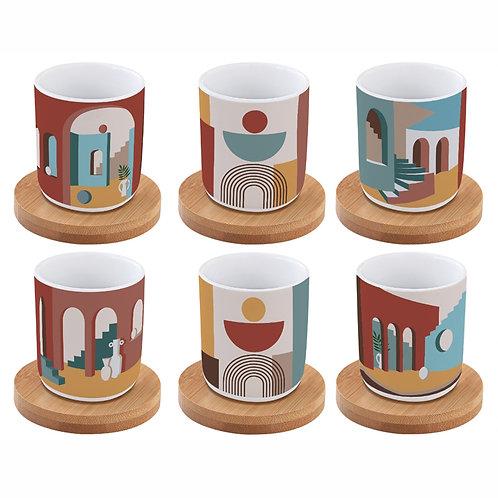 Illusion -  set 6 tasses à café