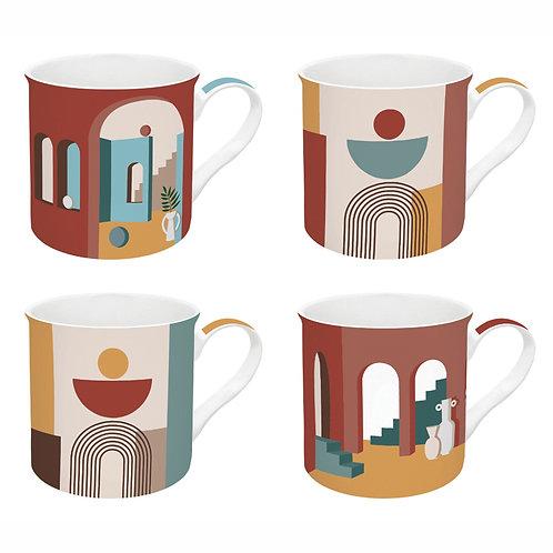 Illusion coffret 4 mugs