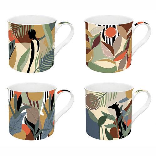 Kilimandjaro coffret 4 mugs