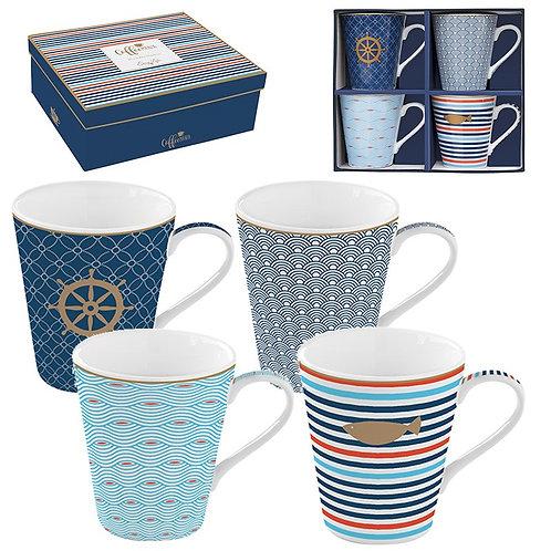 Bord de Mer - Coffret 4 mugs