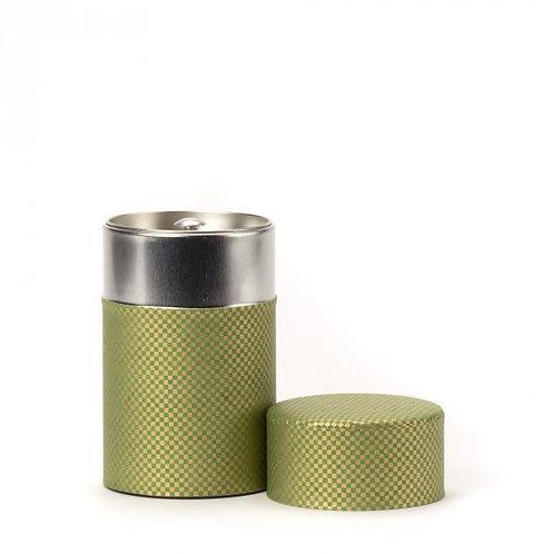 Shikaku boîte à thé papier washi vert 100g