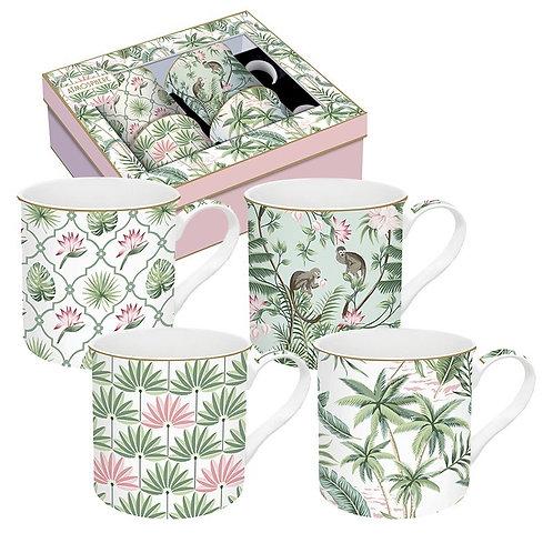 Wild Tropical coffret 4 mugs