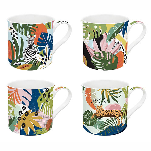 Tropical Vibes coffret 4 mugs