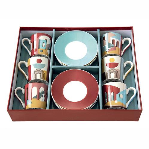 Illusion coffret 6 tasses à café