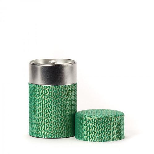 Rido boîte à thé papier washi vert & or 100g