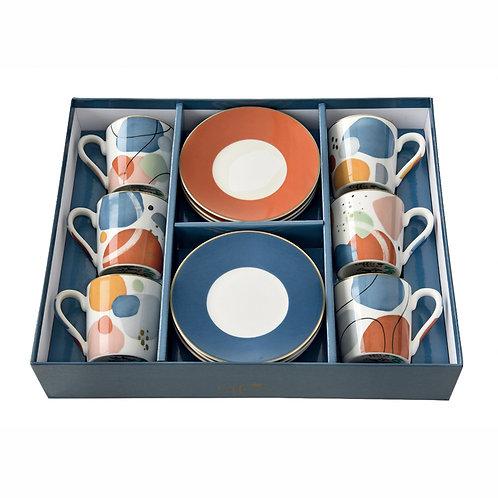 Shapes coffret 6 tasses à café