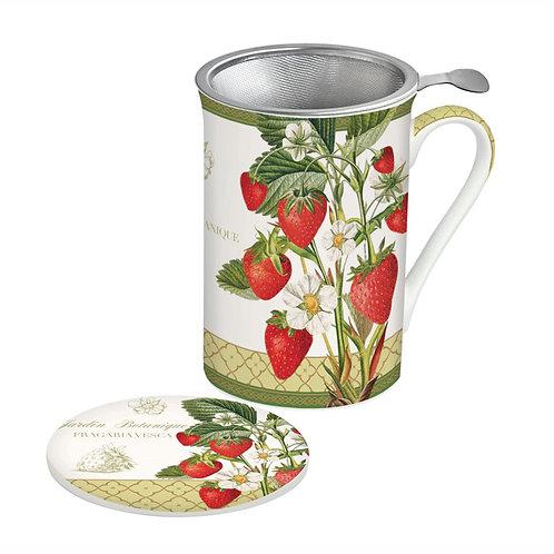 Strawberry tisanière porcelaine