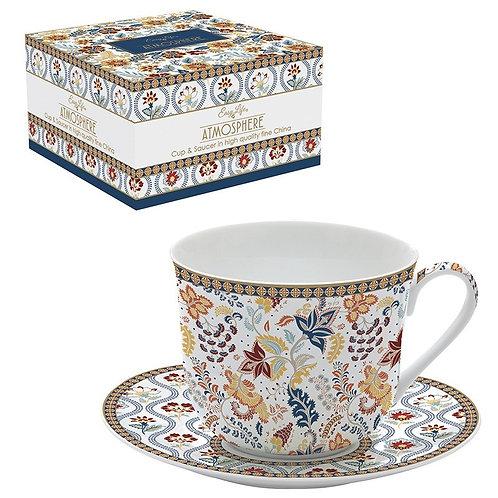 Paisley Abundance déjeuner en porcelaine