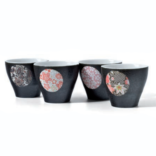 Rond Fleuri - Coffret 4 bols à thé