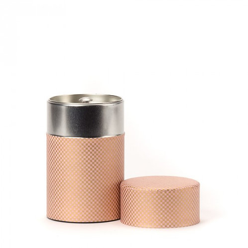 Shikaku boîte à thé papier washi rose 100g