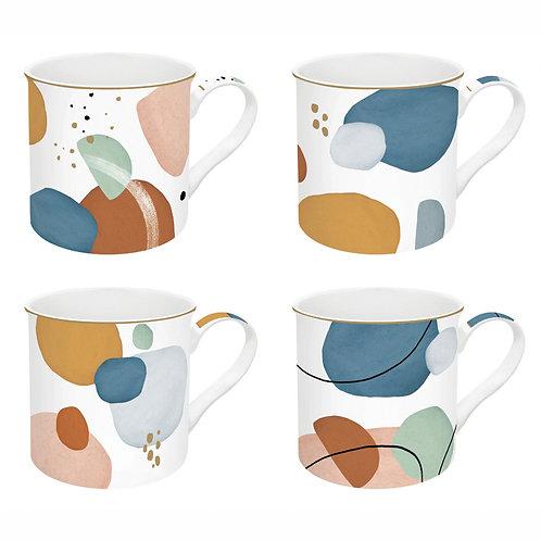 Shapes coffret 4 mugs