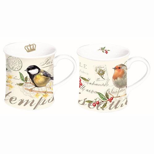 Oiseaux coffret 2 mugs