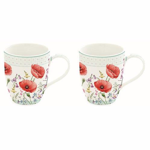Coquelicots - Coffret 2 mugs