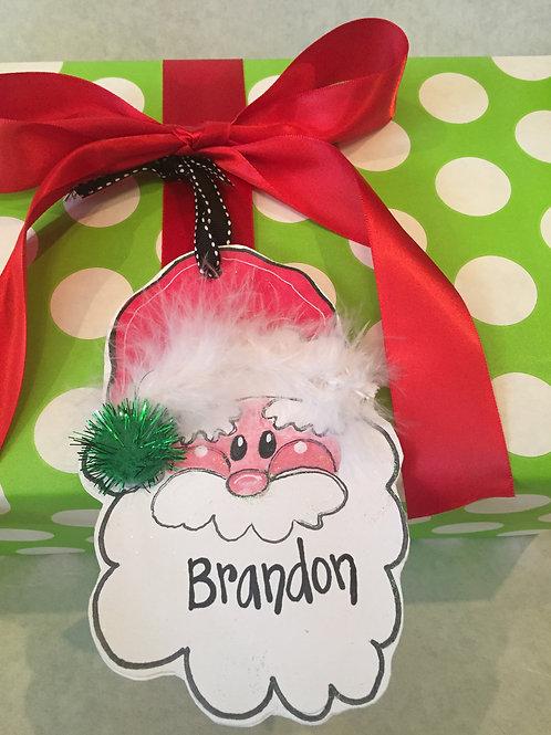 Santa ornament/Package Tag