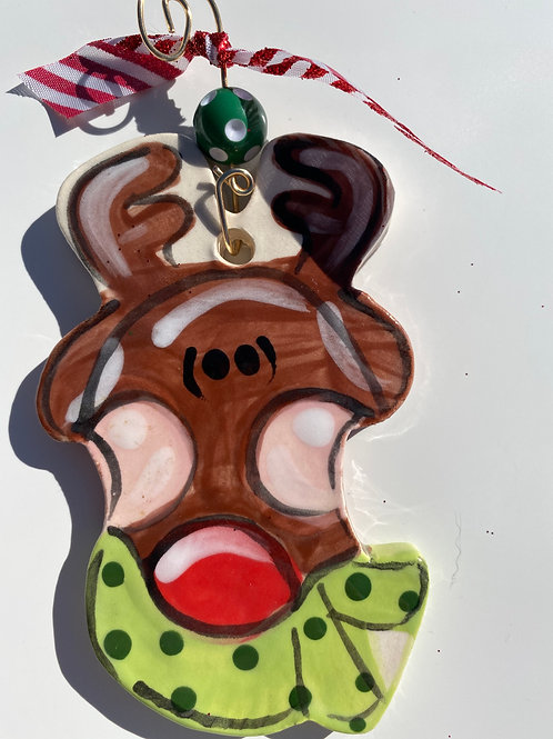 Clay Reindeer Ornament
