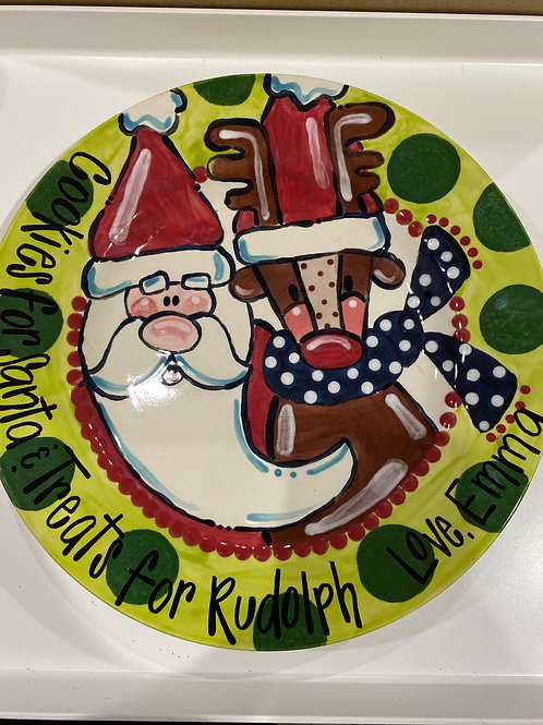 Cookies for Santa and Treats for Rudolph Plate