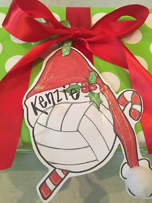Volleyball ornament/Package Tag