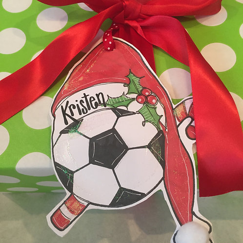Soccer Paper ornament/Package Tag
