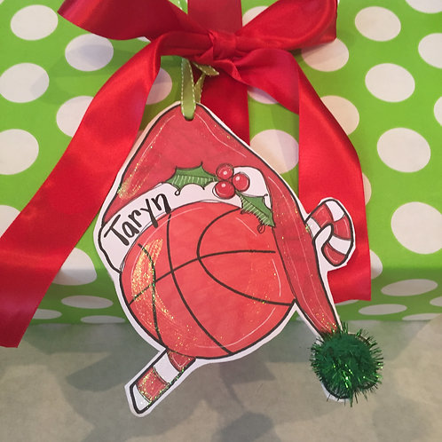 Basketball Paper ornament/Package Tag