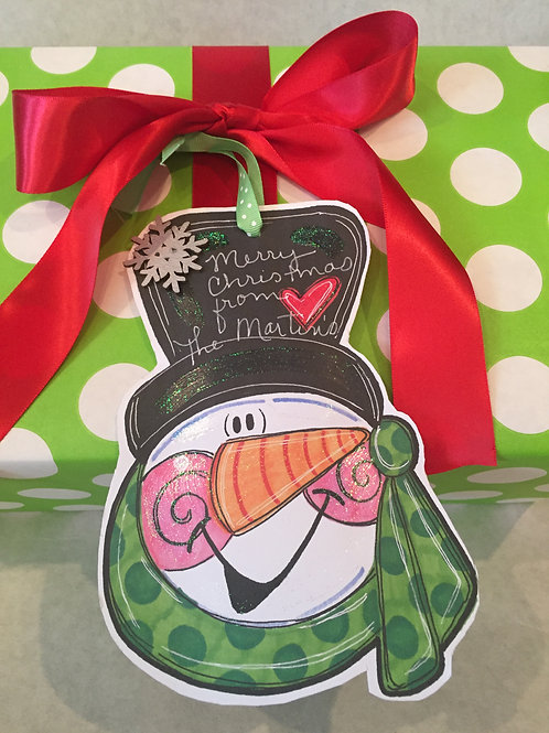 Snowman ornament/Package Tag