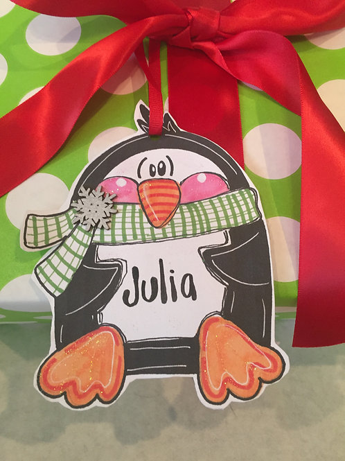 Penguin Paper ornament/Package Tag