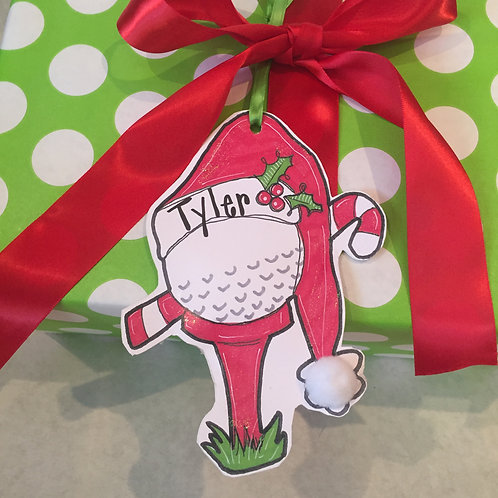 Golf Paper ornament/Package Tag