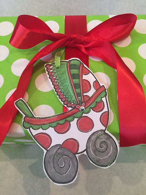 Baby Stroller ornament/Package Tag
