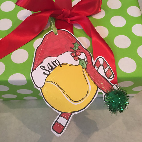Tennis Paper ornament/Package Tag