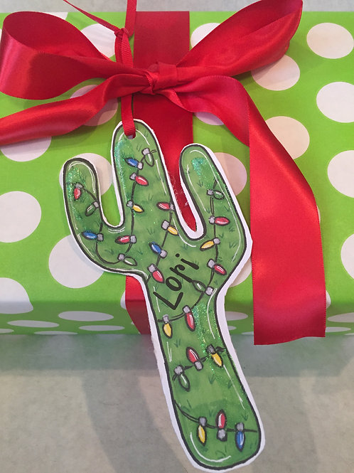 Cactus  ornament/Package Tag
