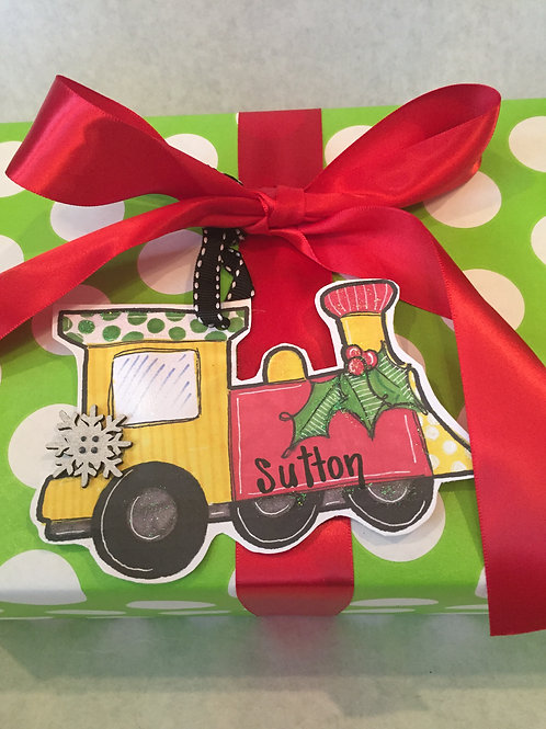 Train Paper ornament/Package Tag
