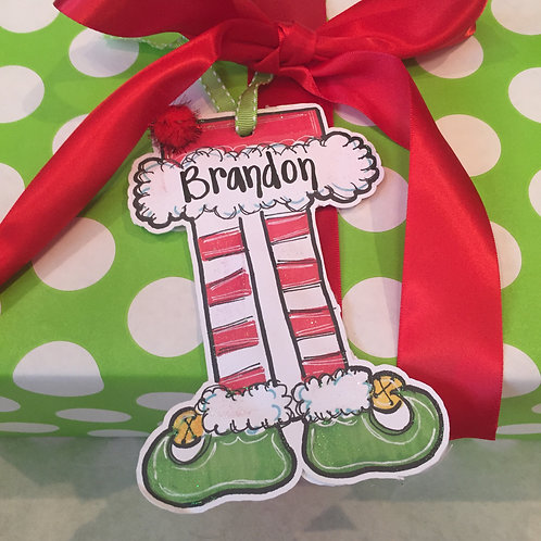 Elf Legs Paper ornament/Package Tag