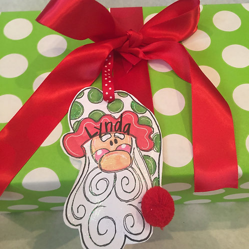 Santa Paper ornament/Package Tag