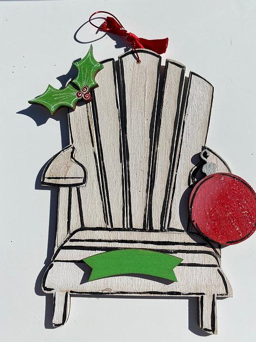 Adirondack chair wooden ornament