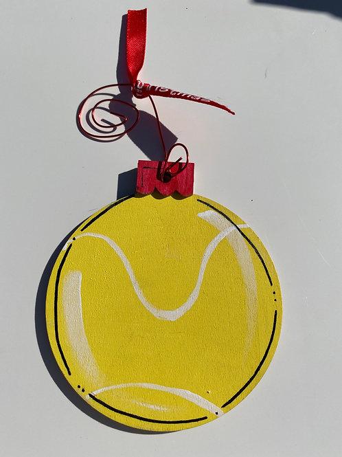 Tennis Wooden Ornament
