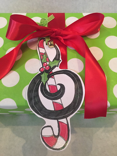 Music note ornament/Package Tag